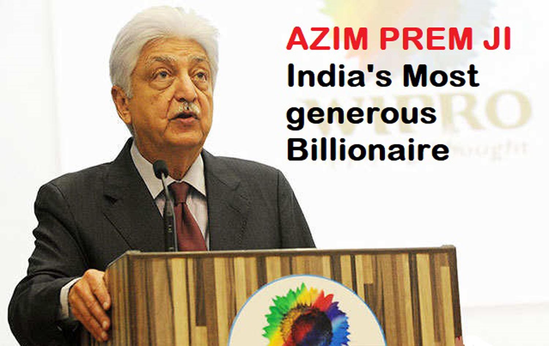मुकेश अम्बानी सहित भारत के सभी अमीरों को पीछे छोड़ अज़ीम प्रेमजी न सिर्फ भारत बल्कि एशिया के टॉप और विश्व के पांचवें टॉप दानदाता बने।