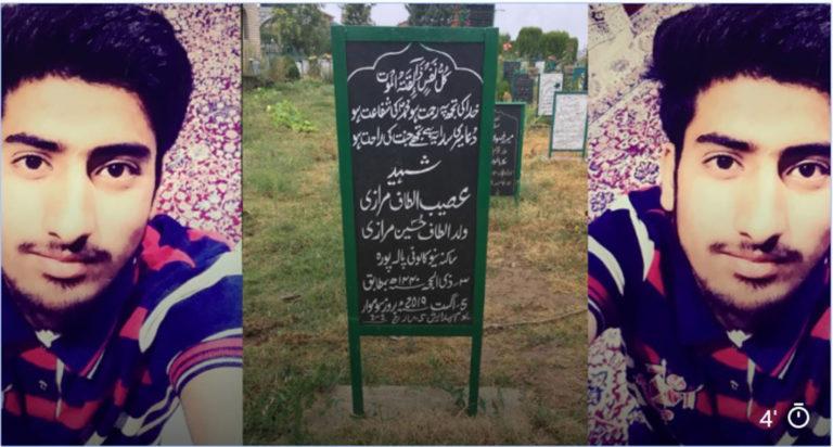 क़ब्रें झूठ नहीं बोलती हैं : कश्मीर में मारे गए ओसैब अल्ताफ का परिवार।