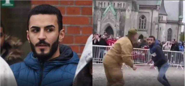 नार्वे में दक्षिणपंथी नेता द्वारा क़ुरआन जलाने से रोकने वाला मुस्लिम युवक सोशल मीडिया पर छाया।