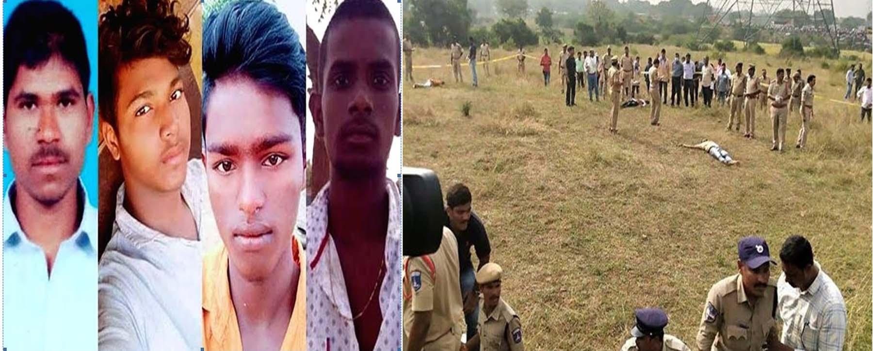 हैदराबाद एनकाउंटर : तेलंगाना हाई कोर्ट का निर्देश, 9 दिसंबर तक सुरक्षित रखे जाएँ मृतक रेप के कथित आरोपियों के शव।