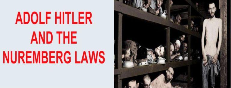 जानिये हिटलर के बदनाम 'नूरेम्बर्ग क़ानून' के बारे में।