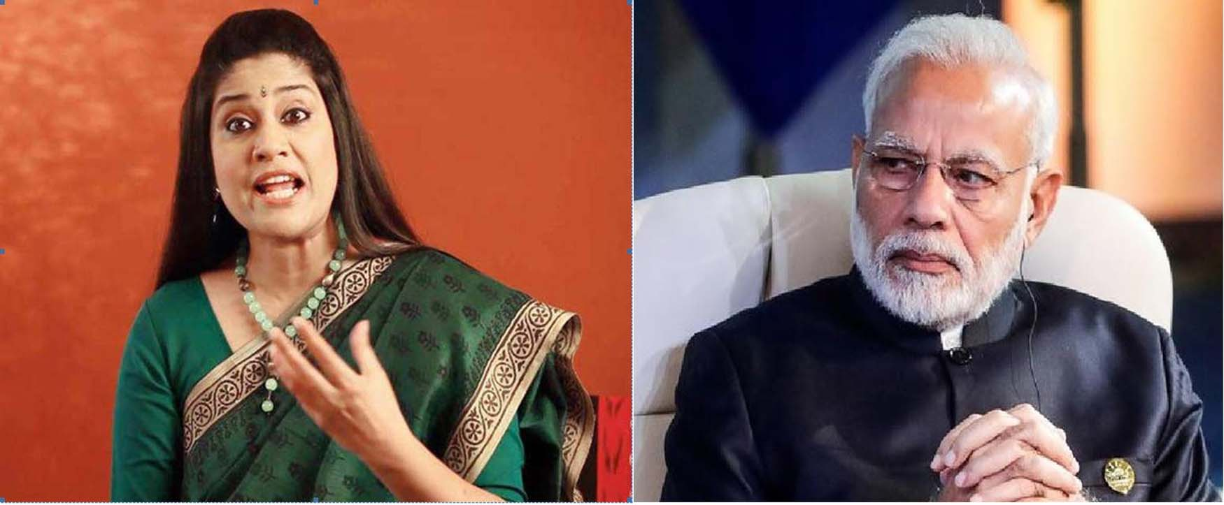 """पी.एम. मोदी के टवीट के जवाब में रेणुका शहाणे ने टवीट कर कहा """"रियल 'टुकडे टुकड़े गैंग भाजपा का आईटी सेल है।"""""""