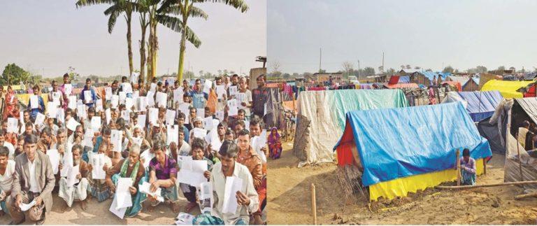 असम : NRC में नाम आने के बाद भी 426 मुस्लिम परिवारों के घरों को ध्वस्त कर, उनकी ज़मीनों पर क़ब्ज़े कर शिविरों में भेजा।