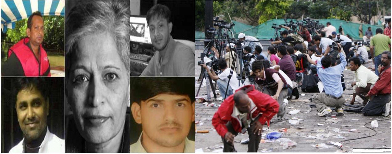 2014 से 2019 तक 40 पत्रकारों की हत्याएं, 200 पत्रकारों पर गंभीर हमले व 55 गिरफ्तारियां