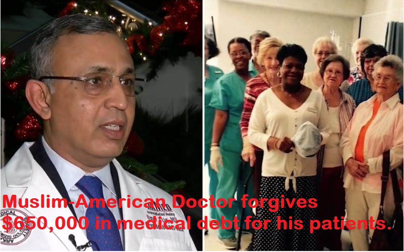 अमेरिकन मुस्लिम डॉक्टर ने अपने कैंसर मरीज़ों के $650,000 डॉलर के बिल माफ़ किये।